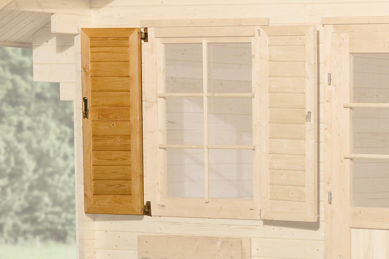 Weka Fensterladen 1-seitig für Fenster 84 x 113 cm