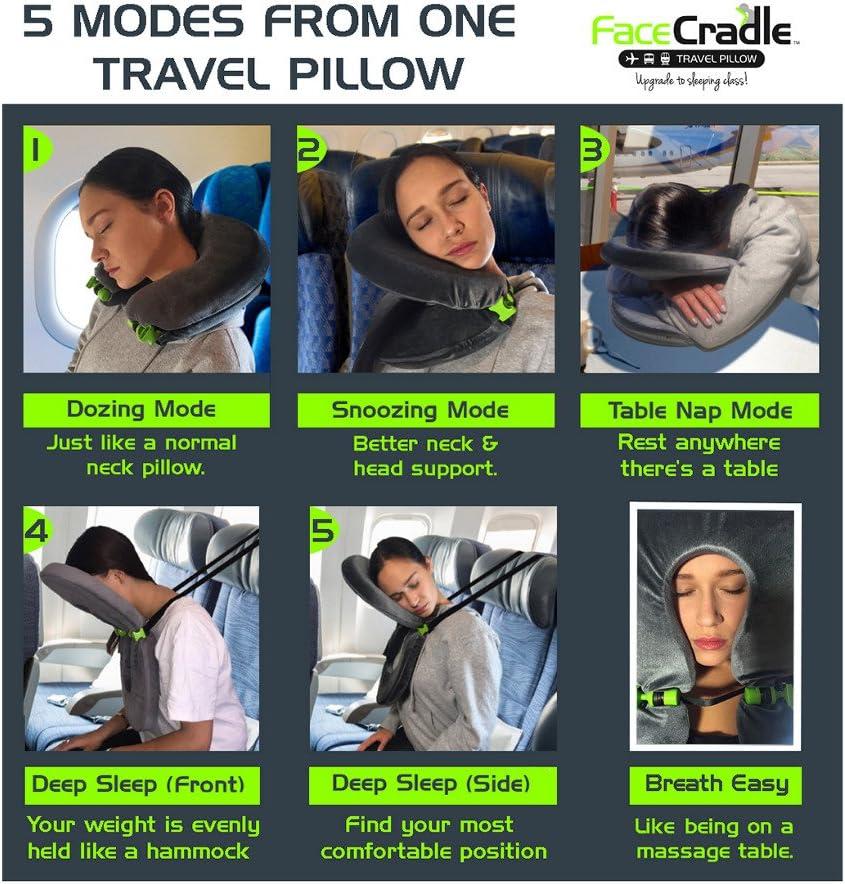 FaceCradle Adjustable Travel Pillow