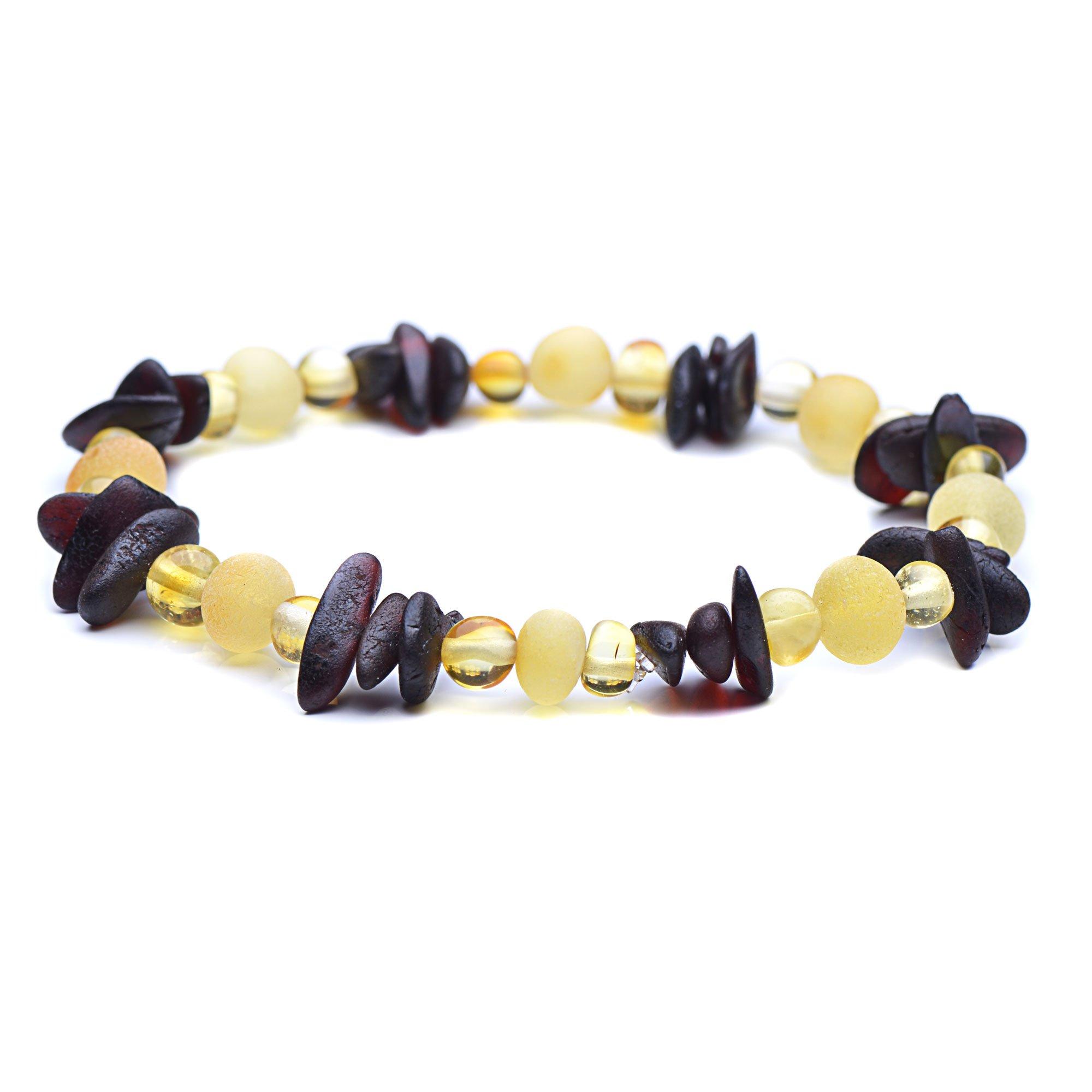 Authentic Baltic Amber Bracelet - 3 Sizes to Choose - Unique Adult Amber Bracelet (7inches)