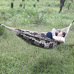 WEWE Camping Hammock,Printed Hammock Outdoor Swing Breathable Comfortable Durable Indoor Garden Patio Beach