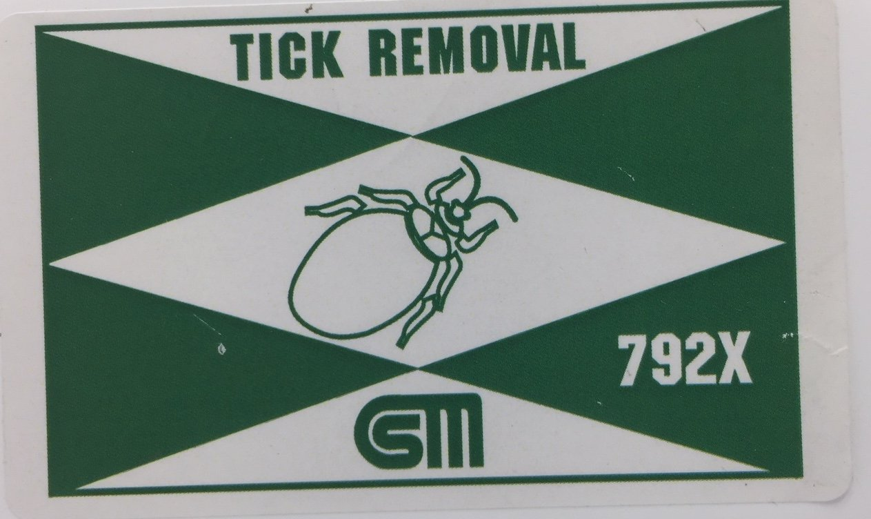 Certified Safety K216-005 792X Tick Removal Kit in Poly Box