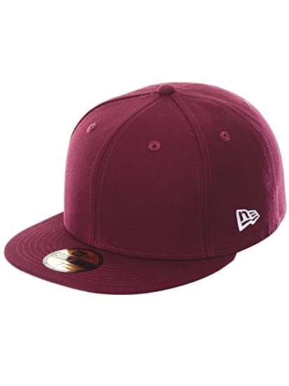 New Era Maroon Red Blanc Blank 59fifty 5950 Fitted Cap Kappe Men at Amazon  Men s Clothing store  39408728ed2a