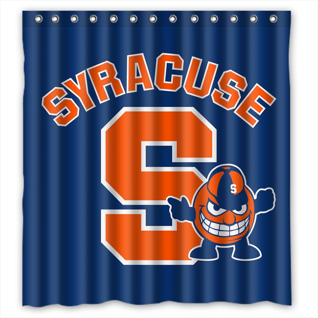 Sports shower curtains - Amazon Com Syracuse Orange High Quality Bathroom Shower Curtain 36 X 72 Inches Clothing