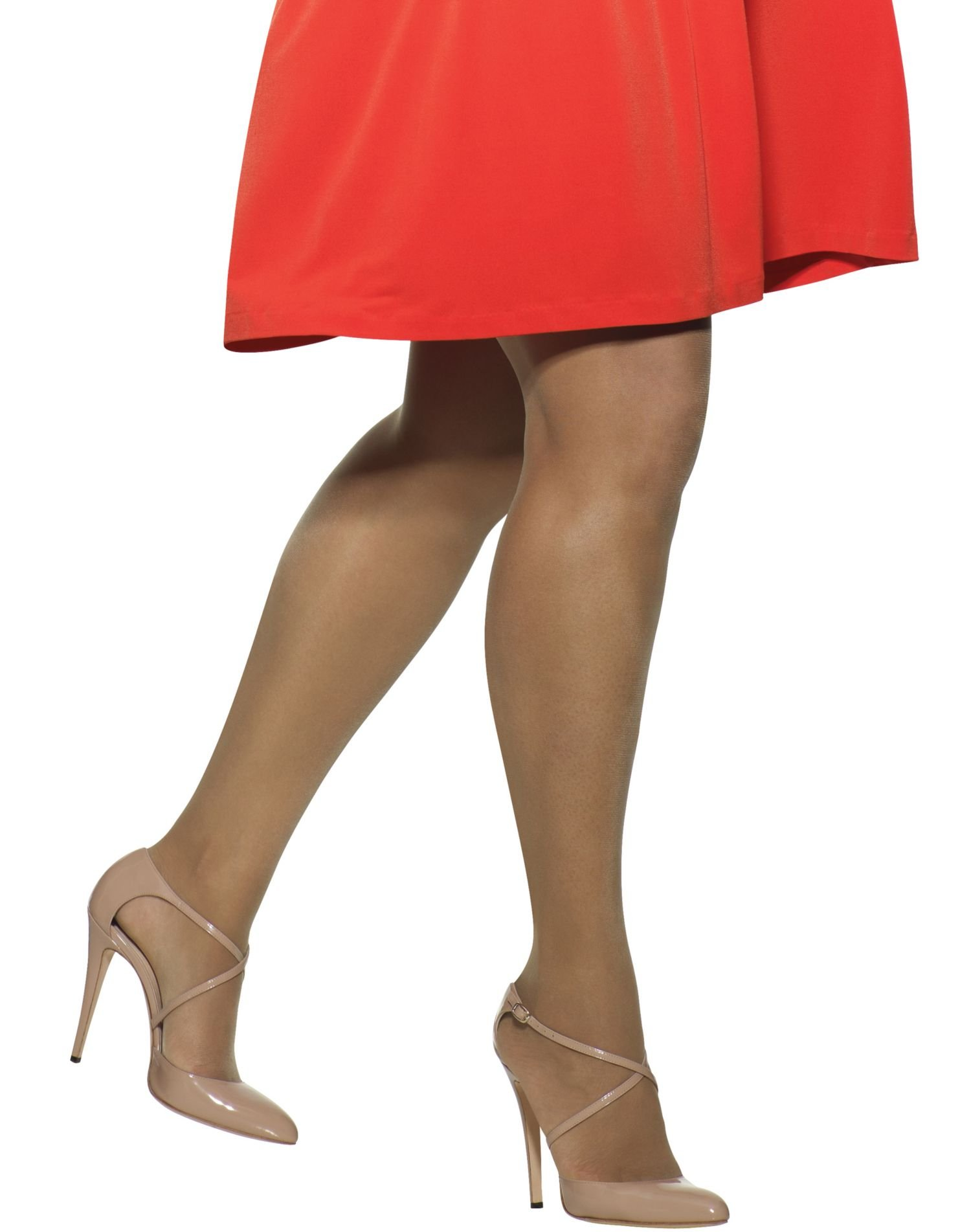 Hanes Plus Size Silk Reflections Pantyhose, 2/Plus, Barely There