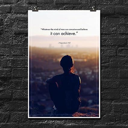 Amazoncom Napoleon Hill Quote Poster Wall Print