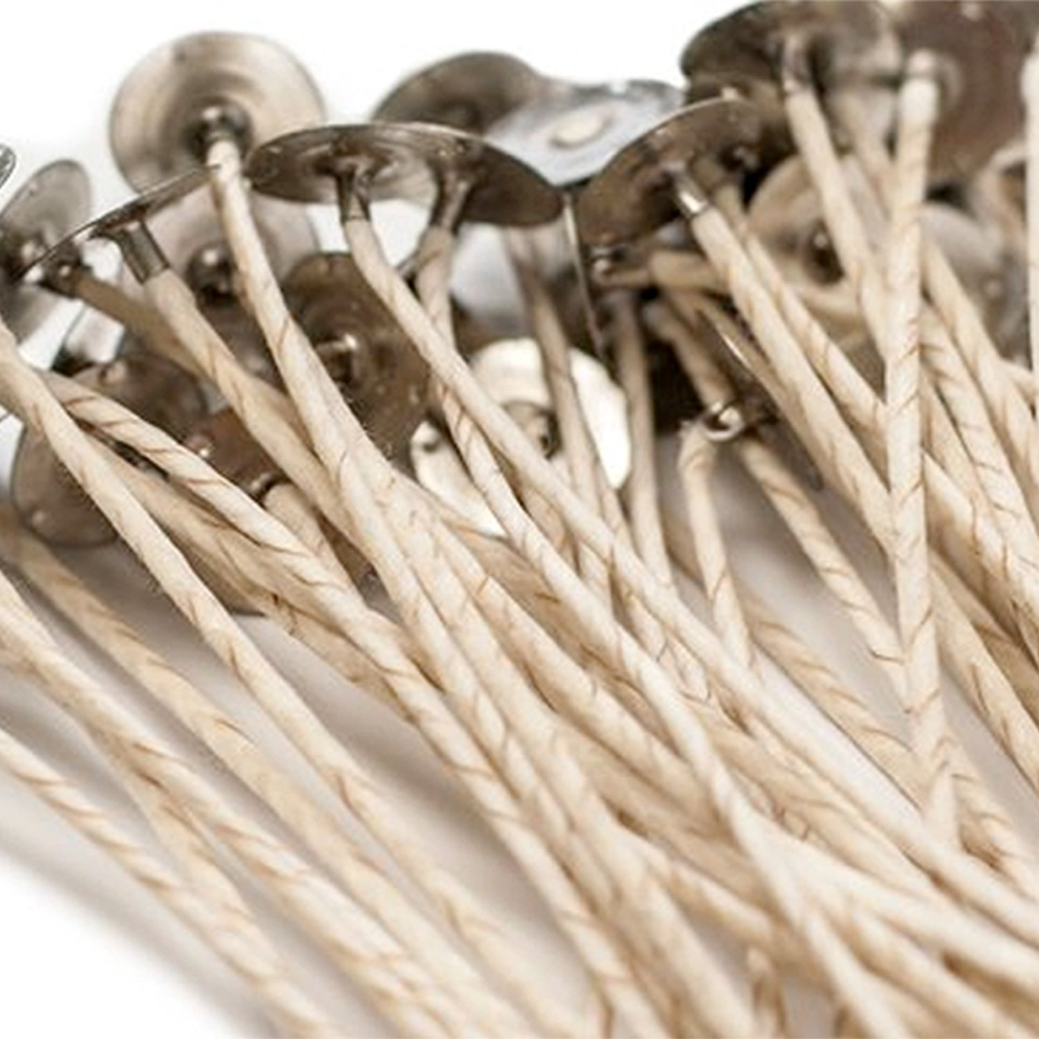 Long Small 6 in Natural Candle Wick 50 Pieces