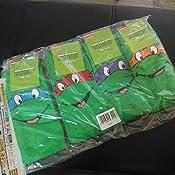 Amazon.com: Mens 4 Par SockShop Teenage Mutant Ninja Turtles ...