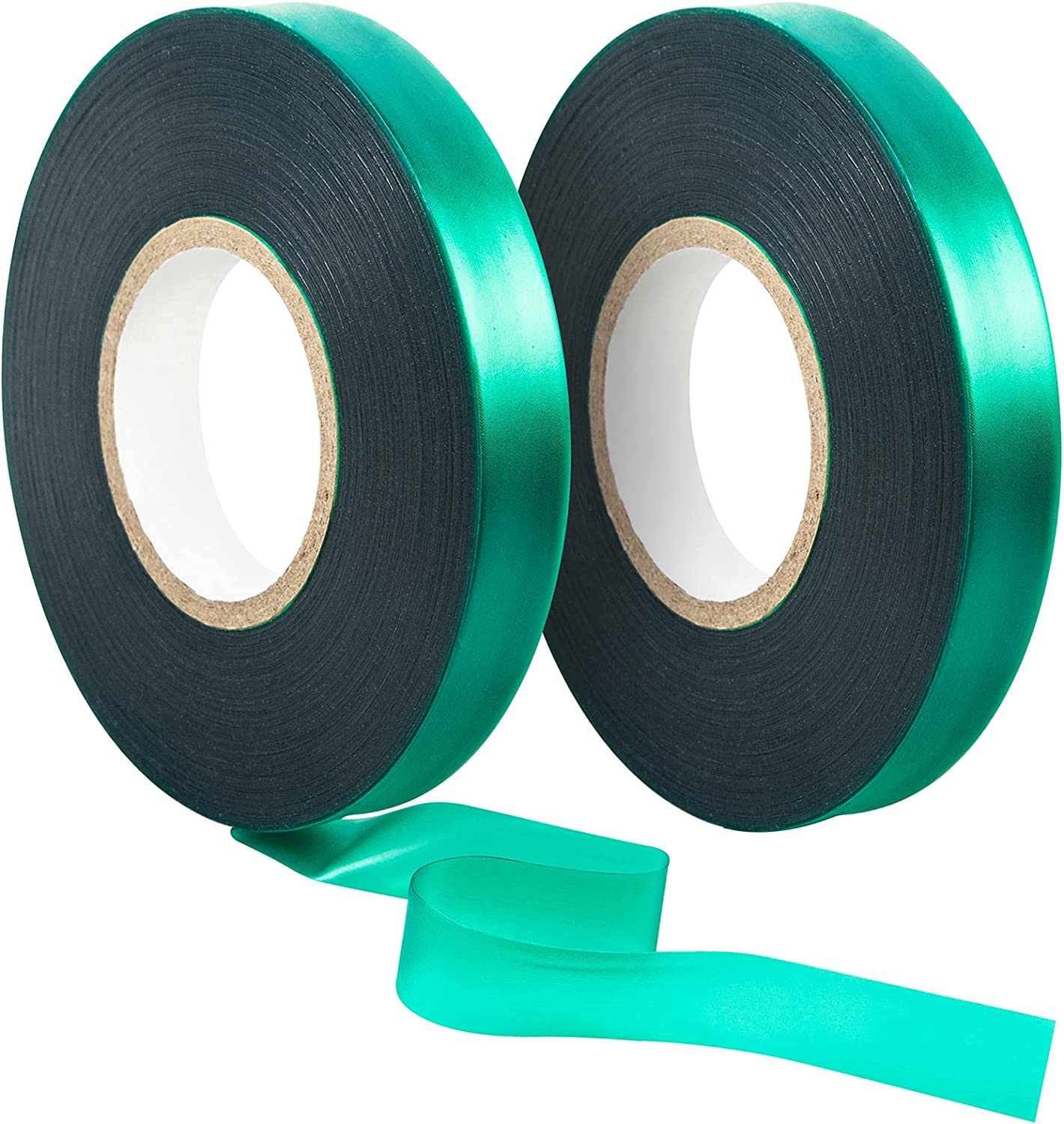 Unves 2 Pack Garden Tape Roll, 150 Ft Thick Reusable Green Plant Tape - 1/2