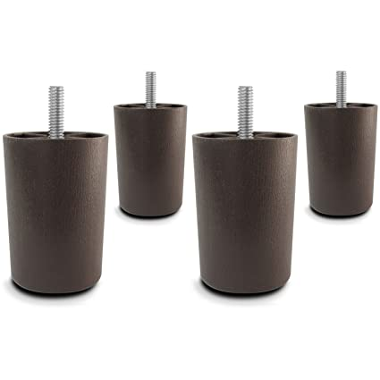 Great Choice Parts   3 Inch Dark Walnut Plastic Sofa Legs (Pack Of 4 Replacement  Feet