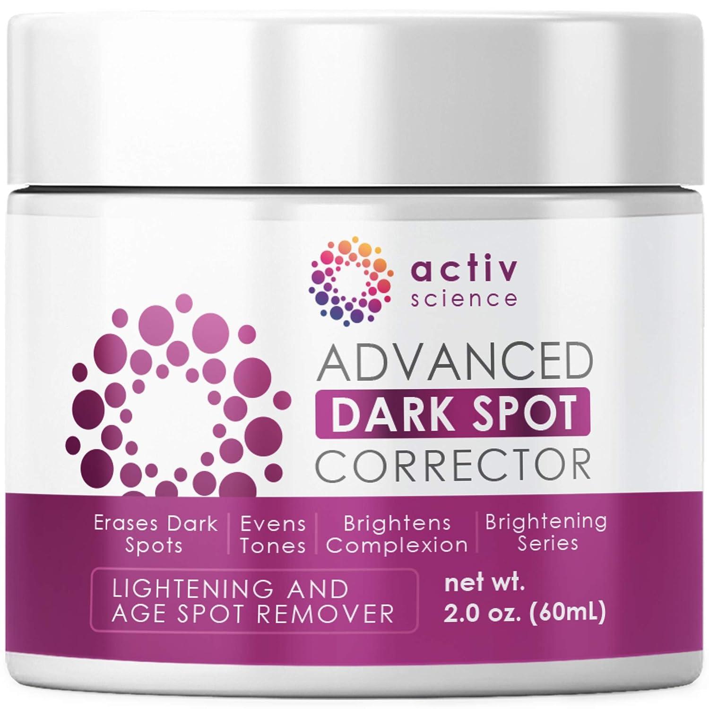 ACTIVSCIENCE Dark Spot Corrector, Skin Lightening Cream & Freckle, Age, Sun Spot & Acne Scar Remover For Face + Kojic Acid Whitening for Armpit, Underarm & Intimate Parts, Age Spot Diminisher 2fl oz