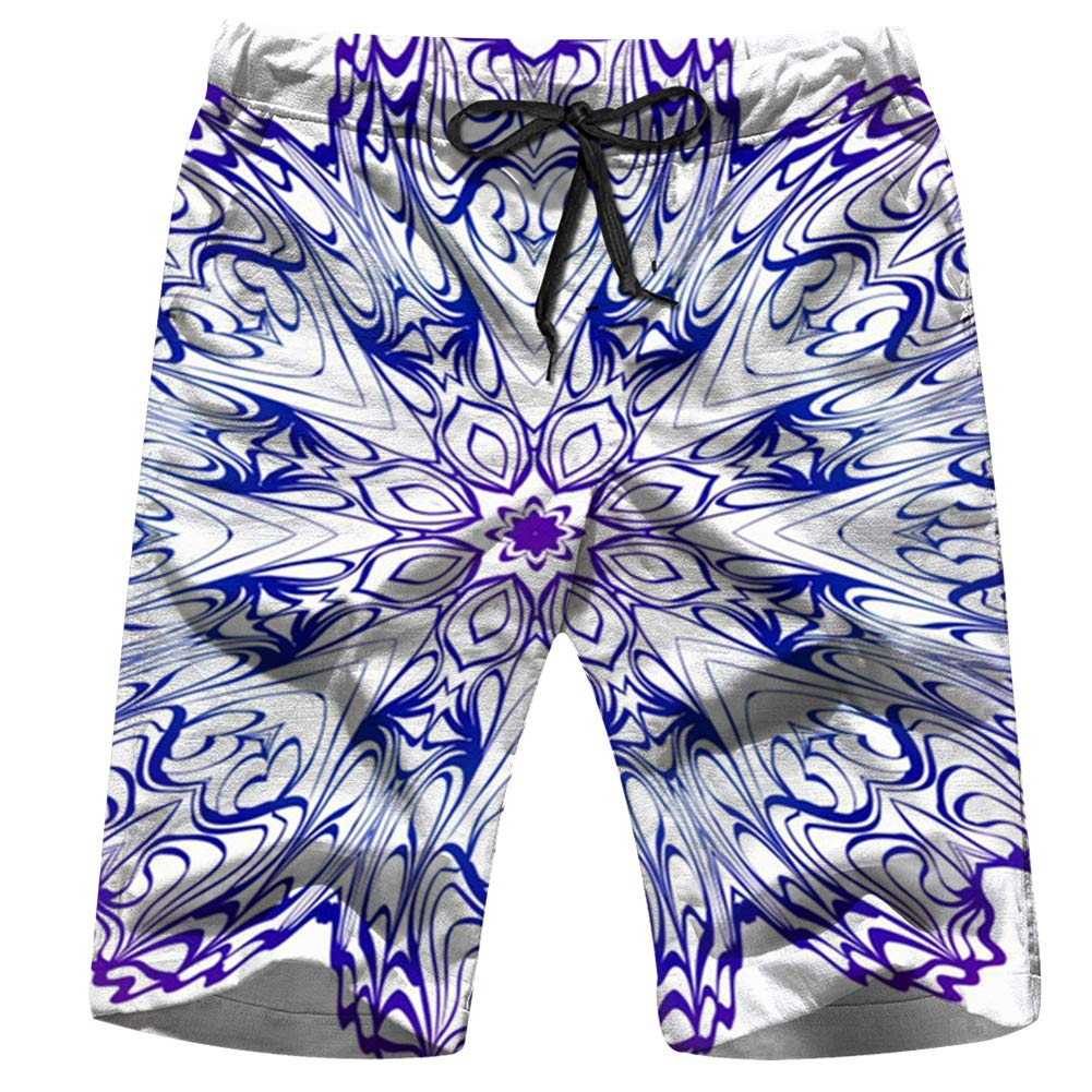 Oforp Christmas Holidays Mens Casual Beach Shorts Swim Surfing Quick Dry with Pockets