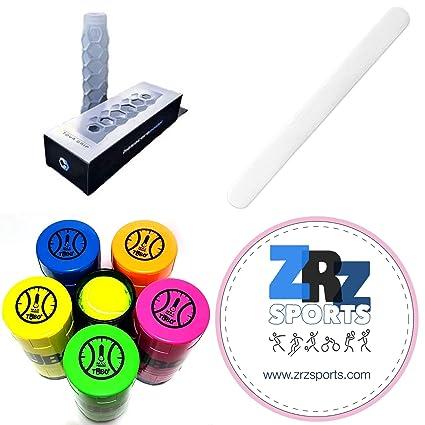 ZRZ Pack Grip Padel HESACORE Tour Grip + TUBOPLUS presurizador Pelotas Padel y Tenis + Protector
