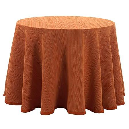 Falda para Mesa Camilla Redonda Modelo Darsena, Color Naranja ...