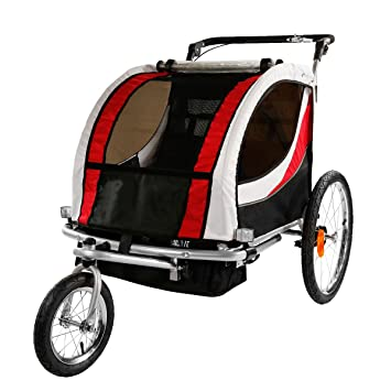 Clevr Deluxe 2 Child Bicycle Trailer Baby Bike Kid