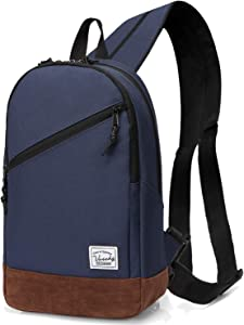 Sling Bag,Vaschy Mini Backpack Two Ways to Carry Adjustable Convertible Crossbody Chest Small Backpack