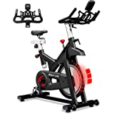 KOUZ LIVE Exercise Bikes Magnetic Resistance, Indoor Stationary Bikes for Home Workout, Quiet Belt Drive with LCD Monitor & P