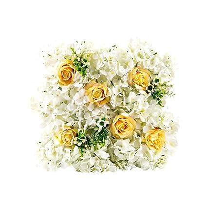 Flores artificiales 10pcs Artificial hortensias seda fundamentales y arreglo Real Touch flores para decoración del hogar
