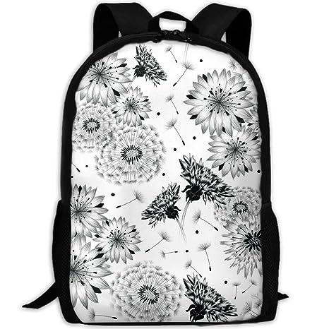 c7d905fbd4d2 Amazon.com: Markui Adult Travel Hiking Laptop Backpack Dandelion ...
