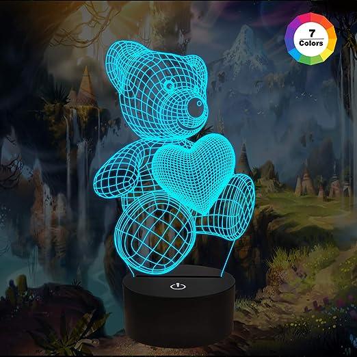 FULLOSUN - Luz de Noche 3D, luz de Rugby, lámpara de ilusión 3D ...