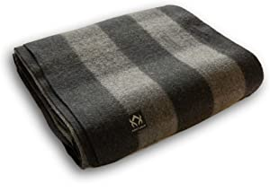 Arcturus Buffalo Plaid Wool Blankets - 4.5lbs Warm, Heavy, Washable, Large | Great for Camping, Outdoors, Sporting Events, or Survival & Emergency Kits