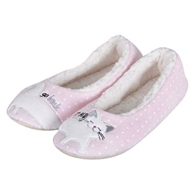Ladies Slippers Soft Fleece Ballet Diamante Bow Cosy Warm UK Size Gifts Xmas