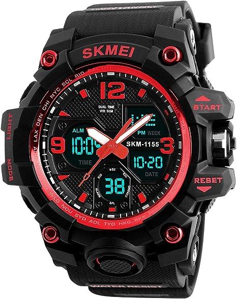 Amazon.com: Reloj deportivo analógico digital resistente al ...