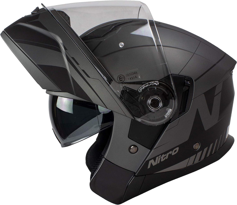 Nitro F350 Analog DVS Casque de moto Noir mat
