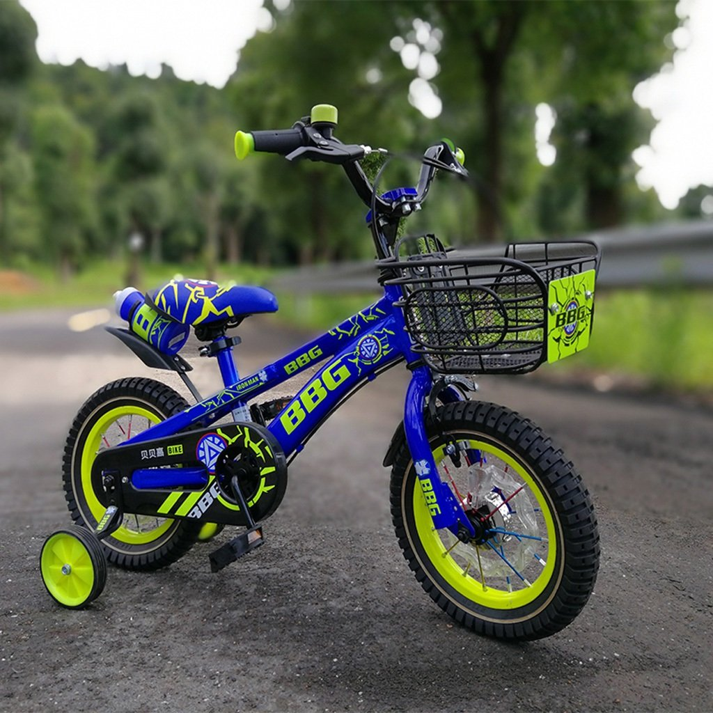 ルミナスホイール子供の自転車12/14/16インチの赤ちゃんキャリッジ2-8歳の少年と少女のペダル自転車ブルー ( Size : 16 inch blue ) B07DP221VF