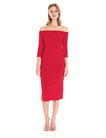 effe8ff6da Norma Kamali Women s Off Shoulder Shirred Waist Dress in Red at ...