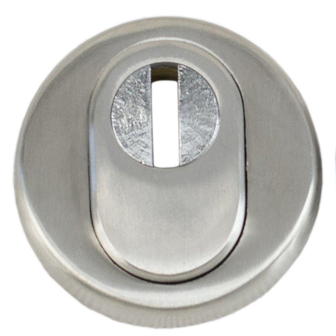 Schutzrosette aus Edelstahl und Anbohrschutz effektiver Zieh Oberfl/äche matt geb/ürstet mit Zylinderabdeckung