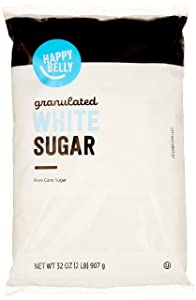 Amazon Brand - Happy Belly Granulated White Cane Sugar, 2lb
