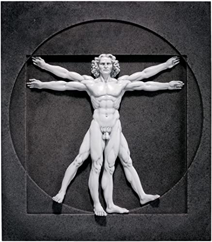 Design Toscano DB320012 DaVinci Vitruvian Man Wall Sculpture