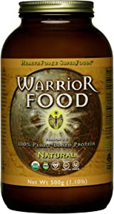 HealthForce SuperFoods Warrior Food, Natural - 500 Grams - Plant-Based Protein Powder with Minerals & Pea Protein - Certified Organic, Vegan, Non-GMO, Soy Free, Gluten Free, Sugar Free - 25 Servings