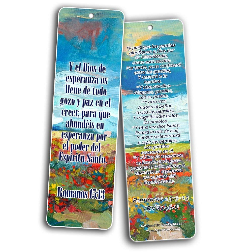 Spanish Bookmarks Cards (60-Pack)- Popular Inspirational Holy Scriptures - War Room Decor by NewEights (Image #8)