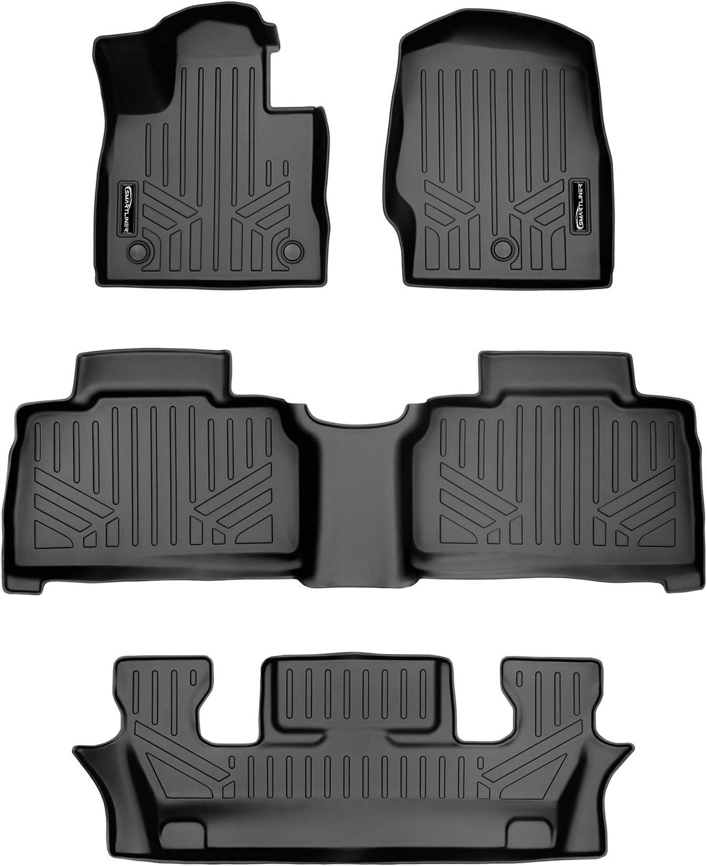 Amazon Com Smartliner Sa0423 B0423 C0423 For 2020 Ford Explorer Only Fits 6 Passenger Models Black Automotive