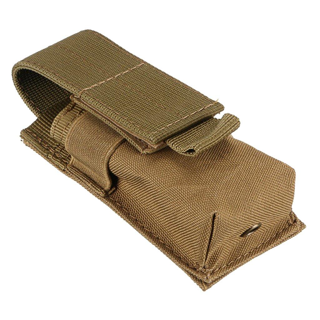 Gazechimp Bolsa de Cintura para Guardar Linterna Bater/ías Impermeable de Nylon de Molle Espaciosa Negro 14X5.5X4CM