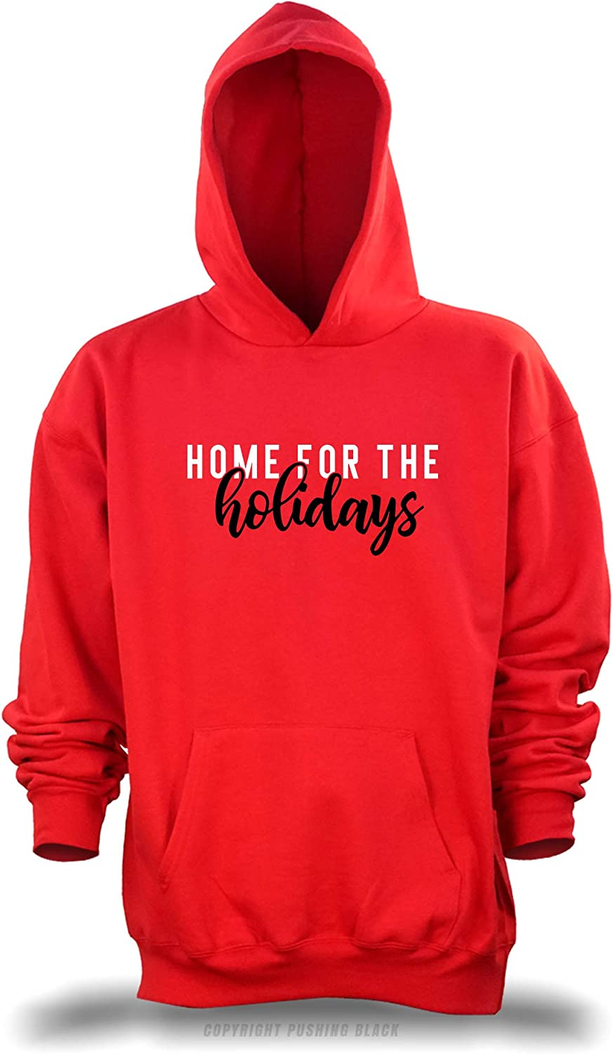 PUSHING BLACK Home for The Holidays Unisex Pullover Hoodie