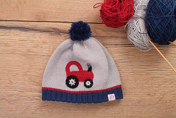 Mütze Mit Bommel Traktor Amazonde Handmade