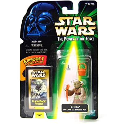 Star Wars Power of The Force Action Figure with Flashback Photo - Yoda: Toys & Games