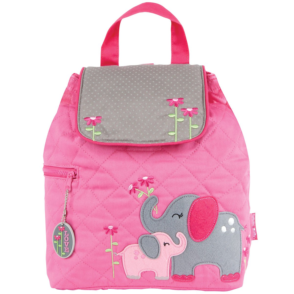 Stephen Joseph Children's Quilted Backpacks Sac à Dos Enfants, 33 cm, 2 liters, Rose (Pink) SJ-1001-G