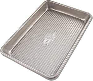 USA Pan 1043MS Bakeware Mini Sheet Warp Resistant Nonstick Baking Pan, Aluminized Steel