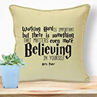 Harry Potter Gifts For Her Girls Kids Boys Women Girlfriend Children Adults Christmas Birthday Xmas Anniversary Handmade Housewarming Quotes Unique Room Decorations Ideas Believe In Yourself Cushion