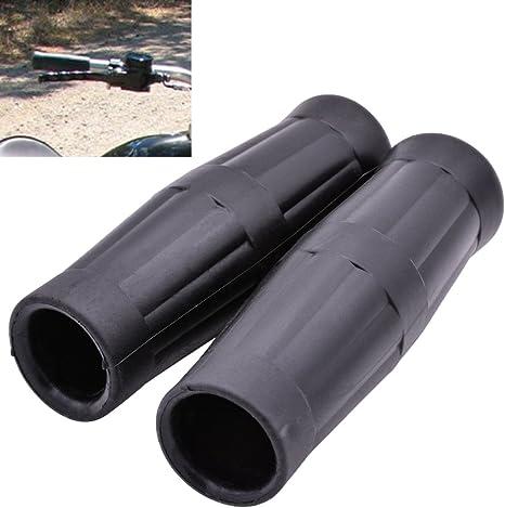 KaTur impugnature antiscivolo in gomma per manubrio moto 2,2 cm. colore nero