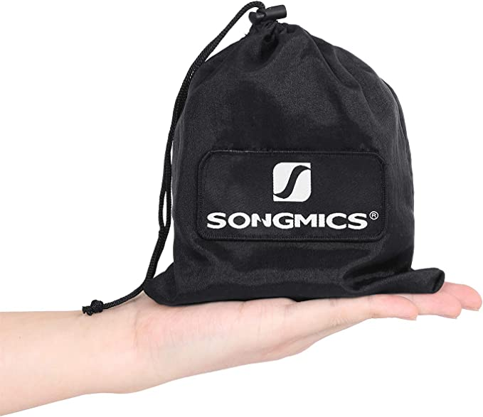 SONGMICS 2 Cinghie per Amaca 3 m con 2 Moschettoni Regge Fino a 300 kg Sistema di Fissaggio durevoli e Regolabili GDC03BW