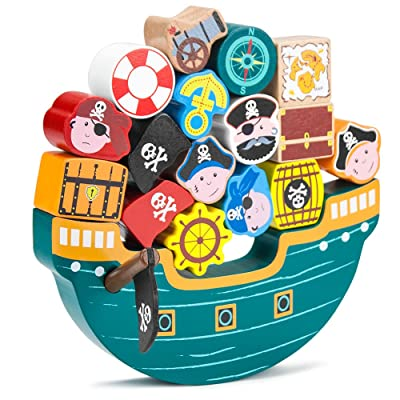 Blockbeard's Balance Boat Balancing Game (18 pieces) by Imagination Generation