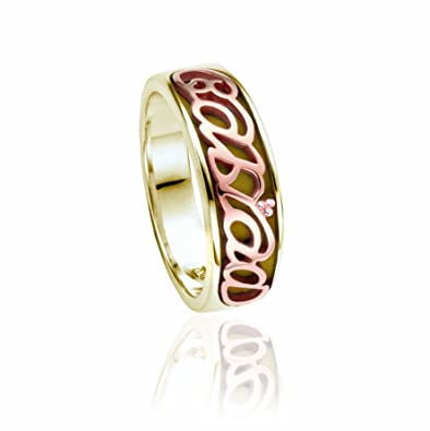 Clogau Sterling Silver /& 9ct Rose Gold Cariad Ring RRP £169.00 size M