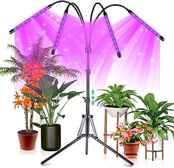 CrazCalf 120 LED Indoor Plants 100W Four-Head Plant Light