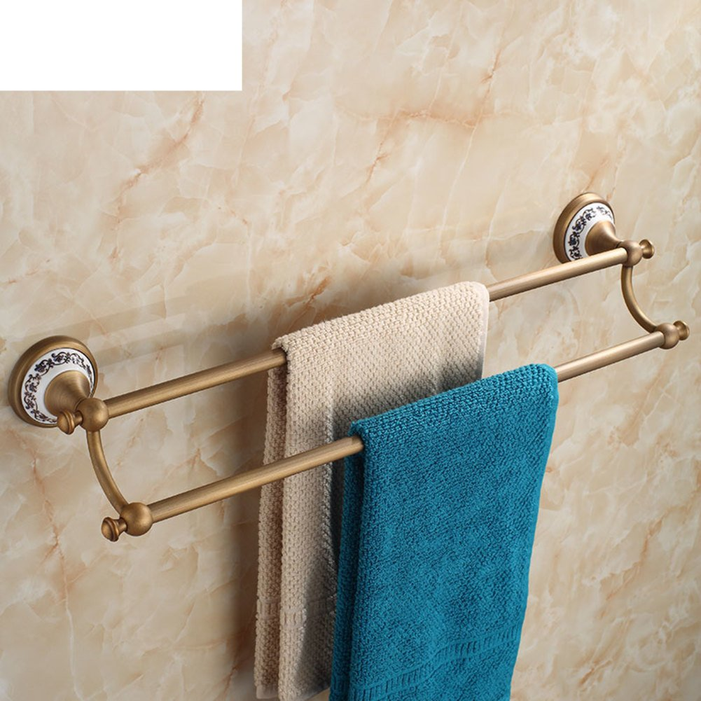 Antique copper towel rack full/towel rack/Bathroom towel rod/Single pole double Towel Bar/Towel hanging for bathroom-C 70%OFF
