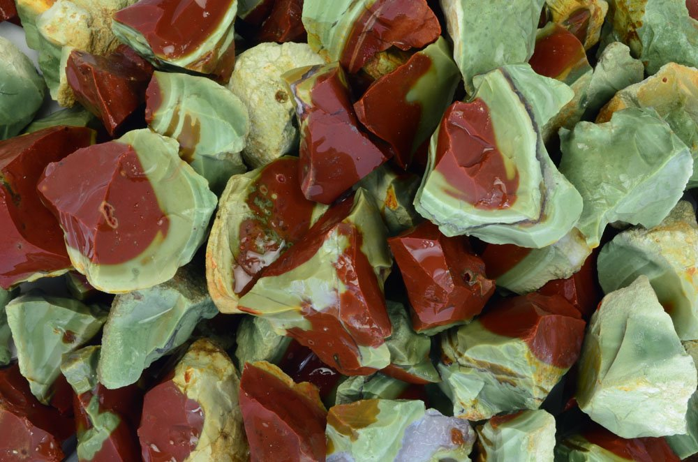 Fantasia Materials: 18 lbs Watermelon Jasper Rough Stones from Mexico - Raw Natural Rocks for Cabbing, Cutting, Lapidary, Tumbling, Polishing, Wire Wrapping, Wicca & Reiki Healing