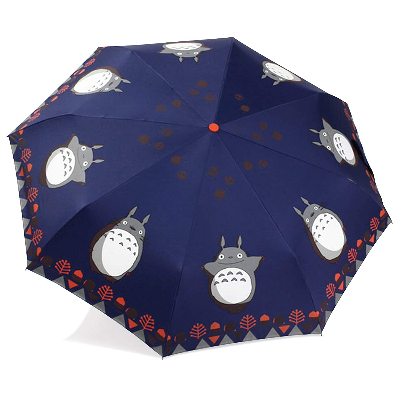 Finex – 完全にAuto Open/Close Umbrella – 防風 – 超スリム、コンパクト持ち運びの  Navy Blue (Totoro) B014Q5X7WM
